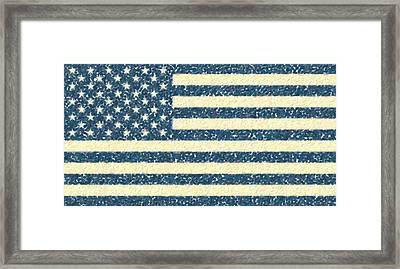 Abstract Usa Flag 2 Framed Print