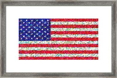 Abstract Usa Flag 3 Framed Print by Celestial Images