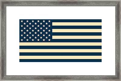 Abstract Usa Flag Framed Print