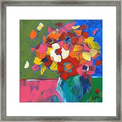 Abstract Vase Framed Print by Terri Einer