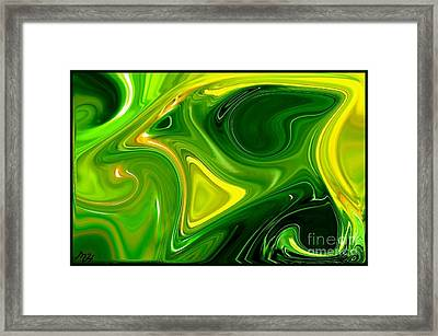 Abstract Veggies Framed Print