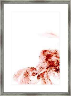 Abstract Vertical Blood Red Mood Colored Smoke Wall Art 01 Framed Print