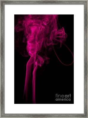 Abstract Vertical Purple Mood Colored Smoke Wall Art 03 Framed Print