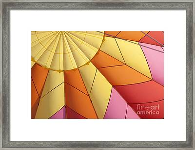 Abstract View Of Hot Air Balloon Framed Print by Juli Scalzi