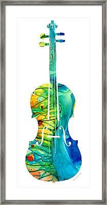 Abstract Violin Art By Sharon Cummings Framed Print