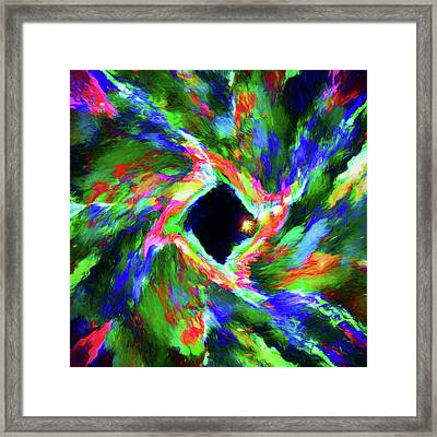 Abstract - Warp Framed Print