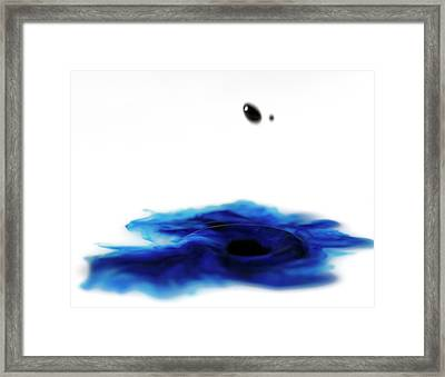 Framed Print featuring the photograph Abstract Water And Waterdrop by Rico Besserdich