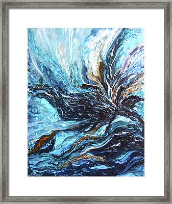 Abstract Water Dragon Framed Print