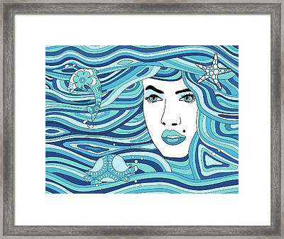 Abstract Water Element Framed Print by Serena King