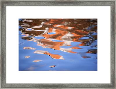 Abstract Water Refections Framed Print by Jenny Rainbow