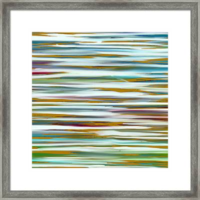 Abstract Water Reflection Framed Print