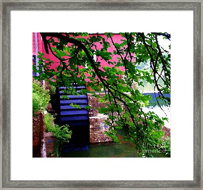 Abstract - Water Wheel Framed Print by Jacqueline M Lewis