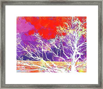Abstract Watercolor - Abstract Tree Framed Print