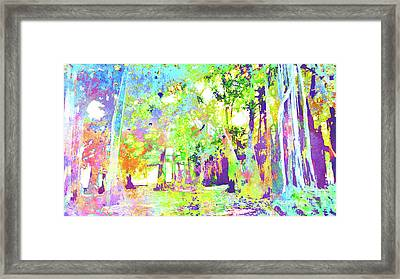 Abstract Watercolor - Banyan Forest I Framed Print