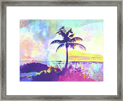Abstract Watercolor - Beach Sunset I Framed Print