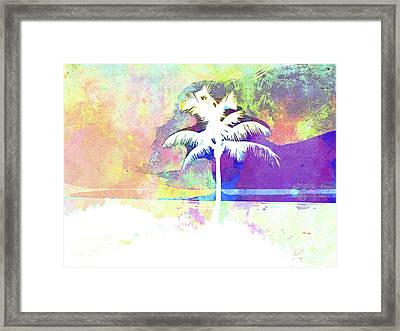 Abstract Watercolor - Beach Sunset II Framed Print