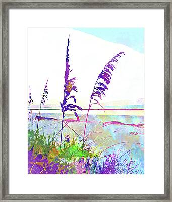 Abstract Watercolor - Morning Sea Oats I Framed Print