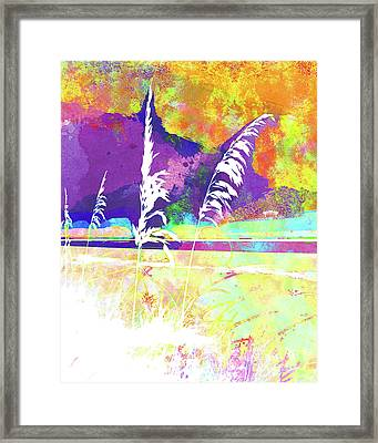 Abstract Watercolor - Morning Sea Oats II Framed Print