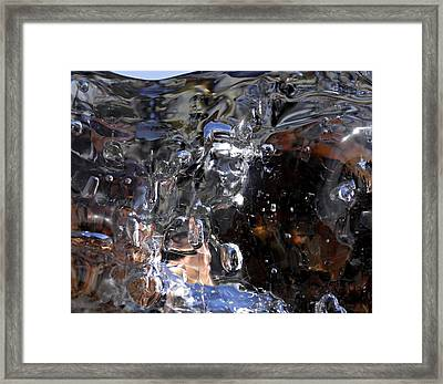 Framed Print featuring the photograph Abstract Waterfall by Sami Tiainen