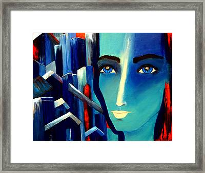 Abstract-we Are One Framed Print by Patricia Motley