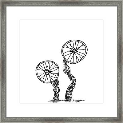 Abstract Wheels Framed Print by Karl Addison