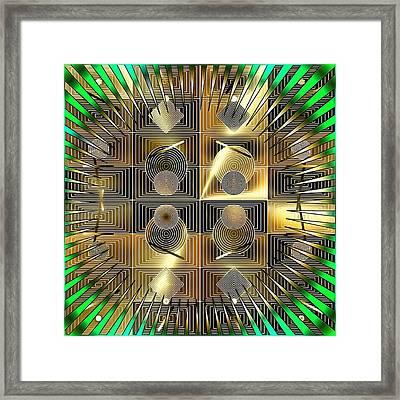 Abstract Wheels Framed Print by Mario Carini