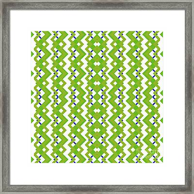 Abstract White, Green And Blue Pattern For Home Decoration Framed Print