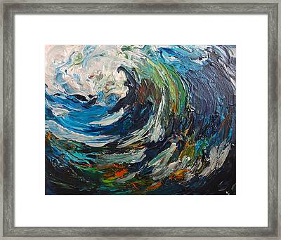 Abstract Wild Wave  Framed Print