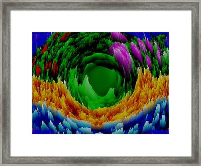 Abstract. Wind. Flowers. Dizziness Framed Print by Dr Loifer Vladimir
