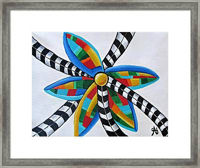Abstract Windmill  Framed Print