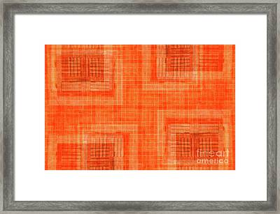 Abstract Window On Orange Wall Framed Print by Silvia Ganora