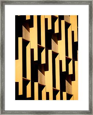 State Building Abstract Framed Print