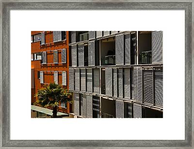 Abstract Windows Pattern Framed Print by John Buxton