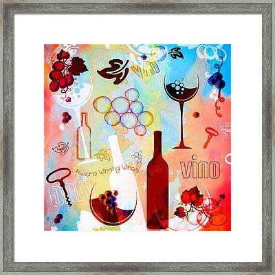 Abstract Wine Art Framed Print by Serena King