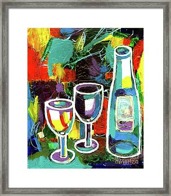 Abstract Wine Lovers Framed Print