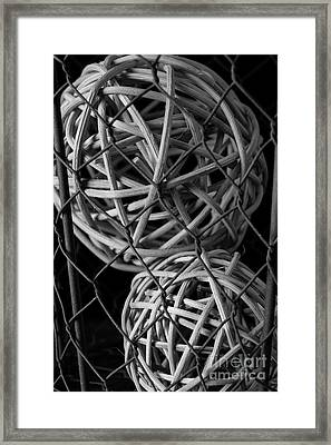Abstract Wire And Spheres Framed Print