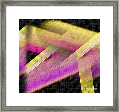 Abstract With A Black Background Framed Print by John Krakora