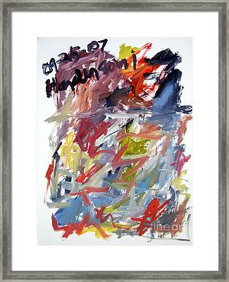 Abstract With Black Date Framed Print by Michael Henderson