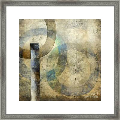 Abstract With Circles Framed Print by Edward Fielding