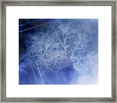 Abstract With Creepy Tree- Ghost Story Framed Print by Kristin Sharpe