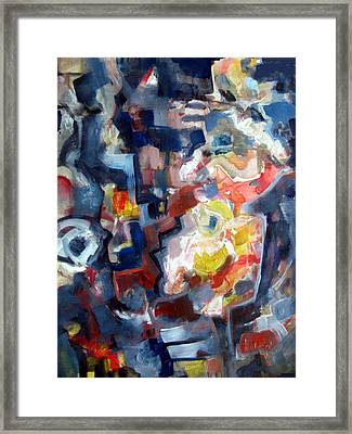 Abstract With Flowers 2   Framed Print
