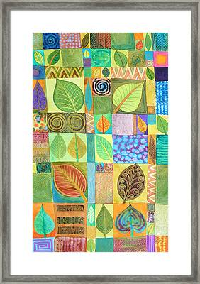 Abstract With Leaves Framed Print by Jennifer Baird