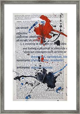 Abstract With Meaning Framed Print