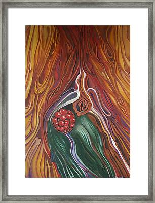 Abstraction With Red Balls Framed Print