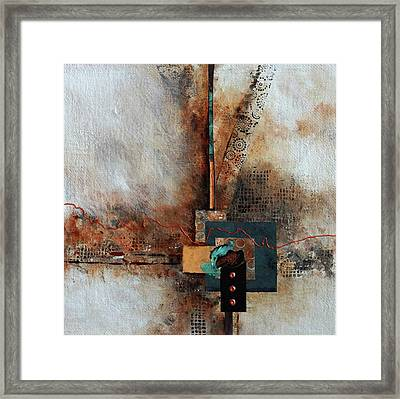 Framed Print featuring the painting Abstract With Stud Edge by Joanne Smoley