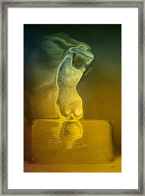 Abstract Woman Framed Print by Joaquin Abella