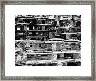 Abstract Wooden Palets Framed Print