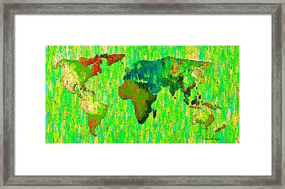 Abstract World Map Colorful 58 - Da Framed Print