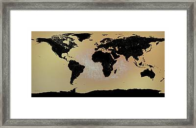 Abstract World Map0117 Framed Print by Bob Orsillo