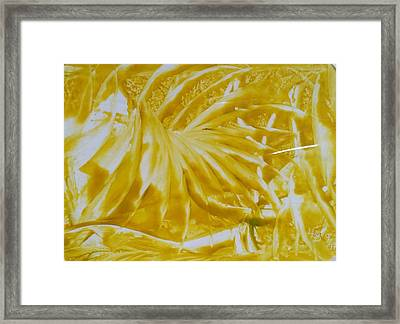 Abstract Yellow  Framed Print